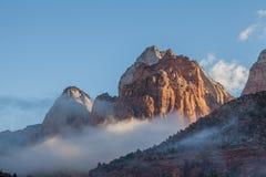 Paisaje del parque nacional de Zion Foto de archivo libre de regalías