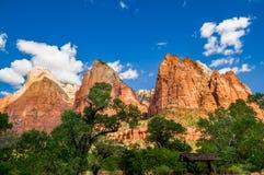 Paisaje del parque nacional de Zion Foto de archivo