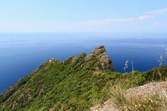Paisaje del parque natural de Portofino foto de archivo libre de regalías