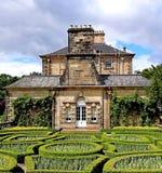 Paisaje del pollock de la casa del pollock con el parque Glasgow del país de los jardines formales Fotos de archivo libres de regalías