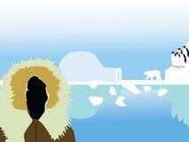 Paisaje del Polo Norte stock de ilustración