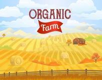 Paisaje del prado Campo Zona rural libre illustration