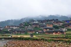 Paisaje del pueblo de Miao Imagen de archivo libre de regalías
