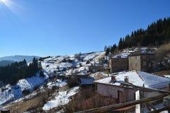 Paisaje del pueblo de Zornitza foto de archivo