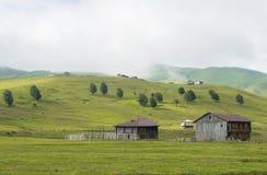 Paisaje del pueblo en Georgia Fotografía de archivo libre de regalías