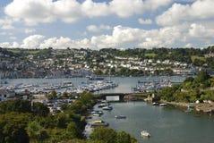 Paisaje del puerto de Dartmouth Foto de archivo
