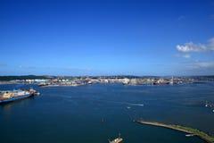 Paisaje del puerto de Durban Fotos de archivo