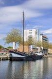 Paisaje del puerto de Pius, un área extensa adyacente al centro de ciudad de Tilburg, Países Bajos Imágenes de archivo libres de regalías