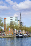 Paisaje del puerto de Pius, un área extensa adyacente al centro de ciudad de Tilburg, Países Bajos Fotos de archivo libres de regalías