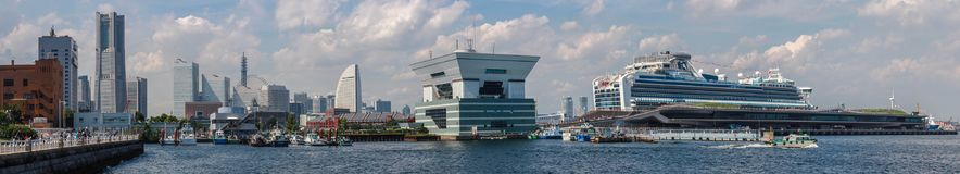 Paisaje del puerto de Yokohama fotos de archivo