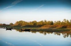 Paisaje del río Foto de archivo