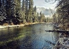 Paisaje del río con agua transparente Imagen de archivo