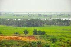 Paisaje del río Congo Fotos de archivo libres de regalías