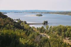 Paisaje del río Río de Dnepr imágenes de archivo libres de regalías