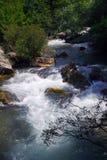Paisaje del río de la barranca Foto de archivo