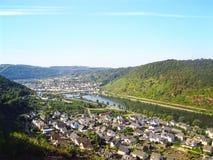 Paisaje del río de Mosela alemania Fotografía de archivo