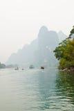 Paisaje del río en invierno, Guilin, China de Li Foto de archivo libre de regalías