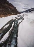 Paisaje del río del invierno fotos de archivo