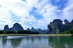 Paisaje del río Lijiang Fotografía de archivo libre de regalías
