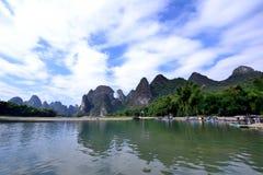 Paisaje del río Lijiang Imagenes de archivo