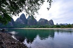 Paisaje del río Lijiang Foto de archivo