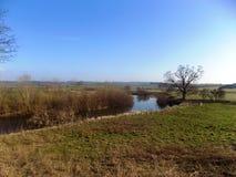 Paisaje del río, Northumberland, Reino Unido Fotografía de archivo libre de regalías