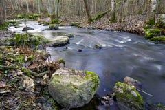 Paisaje del río del otoño foto de archivo