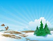 Paisaje del resorte. ilustración del vector