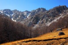 Paisaje del resorte en las montañas de Rumania Imagenes de archivo