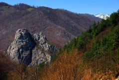 Paisaje del resorte en las montañas de Rumania Imágenes de archivo libres de regalías