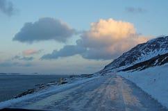 Paisaje del ` s de Islandia en invierno Imágenes de archivo libres de regalías