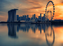 Paisaje del Singapur Imagen de archivo libre de regalías