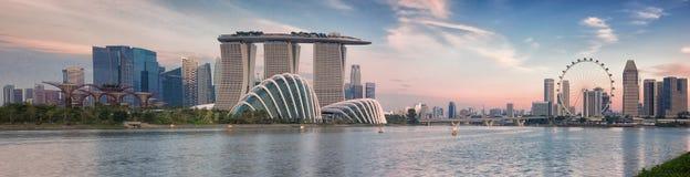 Paisaje del Singapur Imágenes de archivo libres de regalías