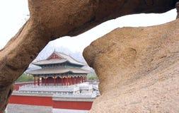 Paisaje del templo de Shigu Imágenes de archivo libres de regalías