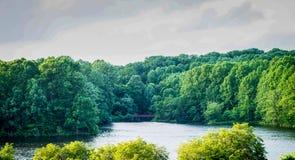 Paisaje del top de la montaña de Great Falls Maryland fotos de archivo libres de regalías
