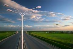 Paisaje del transporte Imagen de archivo libre de regalías