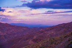Paisaje del valle Coachella Imagenes de archivo