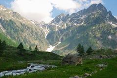 Paisaje del valle de Gesso Imagenes de archivo
