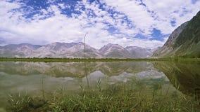 Paisaje del valle de Nubra almacen de metraje de vídeo