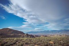 Paisaje del valle de Owens Fotografía de archivo