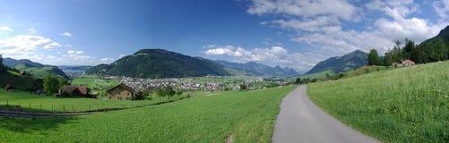Paisaje del valle de Stans Imagen de archivo