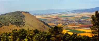 Paisaje del valle de Yezreel Imagen de archivo