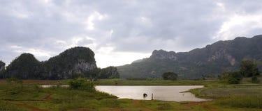Paisaje del valle del lago Foto de archivo libre de regalías