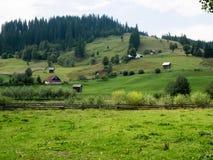Paisaje del valle del ` s de Argel en Bucovina, Rumania Imagen de archivo