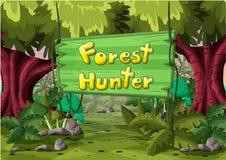 Paisaje del vector de la historieta con las capas separadas para el juego y la animación Fotos de archivo