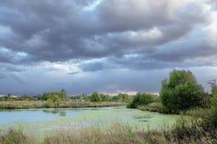 Paisaje del verano antes de la tormenta Fotos de archivo