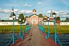 Paisaje del verano con Iver Monastery Fotografía de archivo