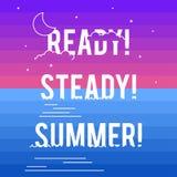 Paisaje del verano con tipografía del estilo stock de ilustración