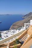 Paisaje del verano del mar: el Mar Egeo y la isla griega. Fotos de archivo