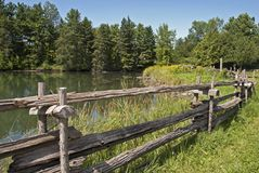 Paisaje del verano en Canadá del este Imágenes de archivo libres de regalías